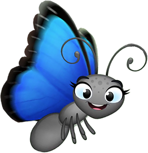 Kids butterfly blue