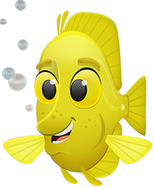 Kids fish yellow